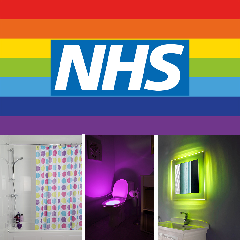 Show your NHS support with a colourful bathroom!