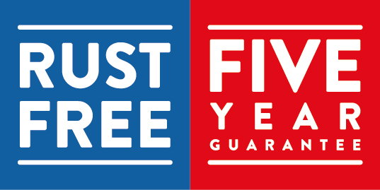 Rust Free 5 Year Guarantee Products Marked With This Logo Are Guaranteed Against The Corrosion Of For Five Years So You Wont Have To Worry About That