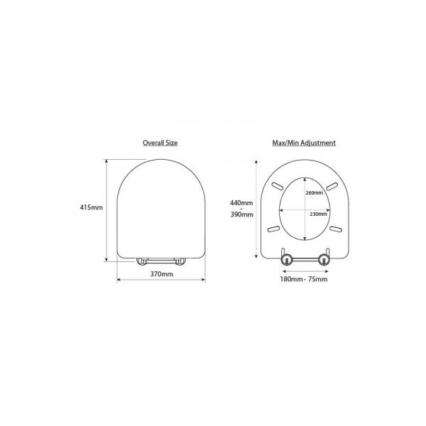 Large D Shaped Toilet Seat happy d solid wood replacement toilet