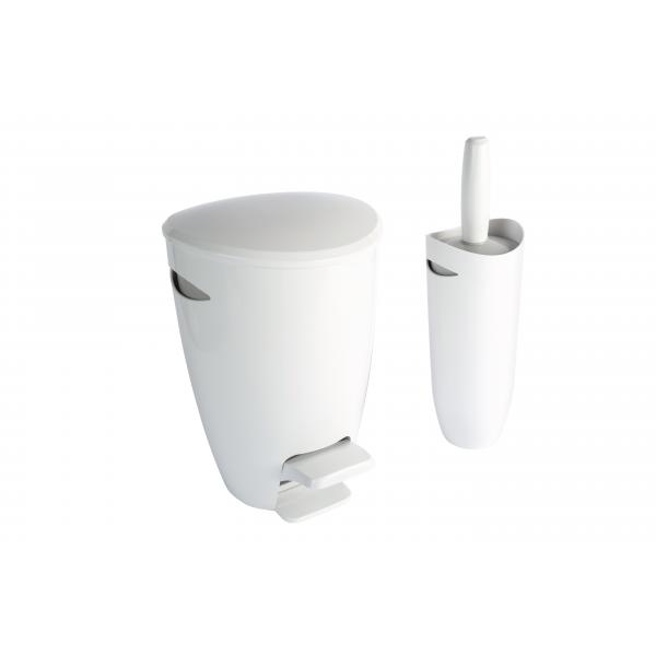 Plastic bathroom bin croydex for Bathroom accessories plastic