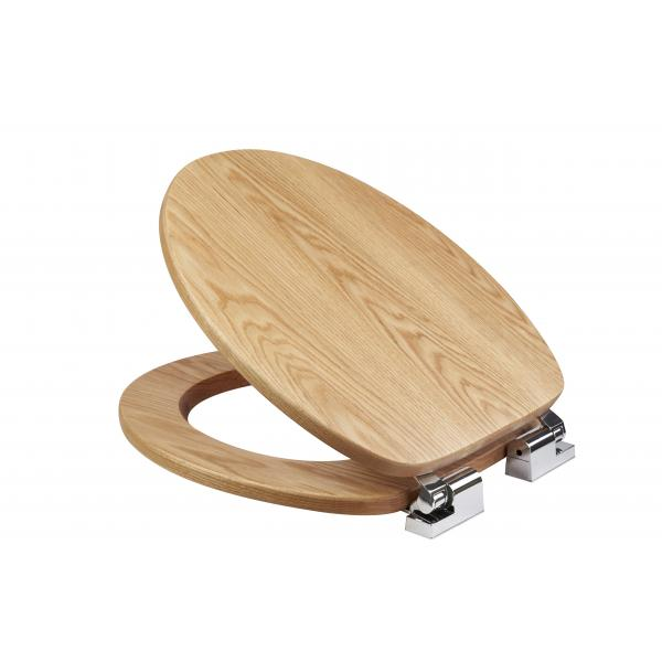 solid wood slow close toilet seat.  Fitzroy Solid Oak Toilet Seat with Soft Close Croydex