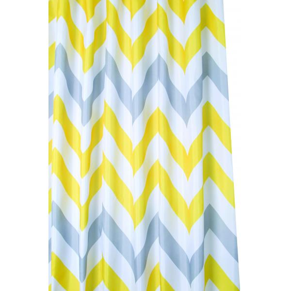 yellow and teal shower curtain. Yellow  Grey Chevron Textile Shower Curtain Croydex