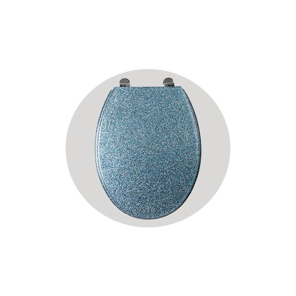 Outstanding Blue Glitter Toilet Seat Croydex Pdpeps Interior Chair Design Pdpepsorg