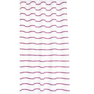 Plum Pinstripe Textile Shower Curtain