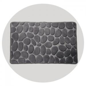 Grey Pebble Memory Foam Bath Mat