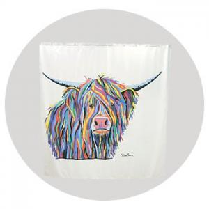 Angus McCoo Shower Curtain