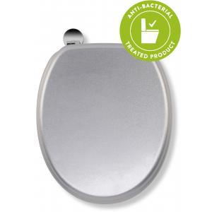 Silver Quartz Flexi-Fix™Toilet Seat