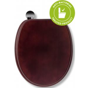 Mahogany Flexi-Fix™Toilet Seat