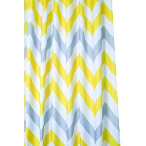 Yellow & Grey Chevron Textile Shower Curtain