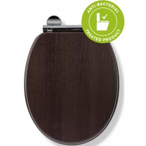 Montoro Walnut Effect Flexi-Fix™Toilet Seat
