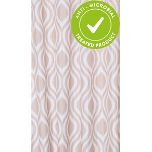 Latte Medallion Textile Shower Curtain