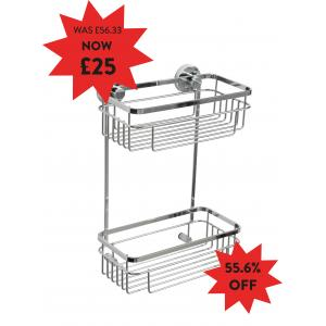 Brockham Flexi-Fix Two Tier CosmeticBasket