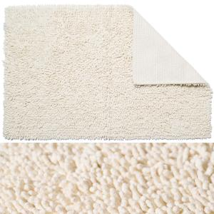 Cream Cotton Bathroom Mat