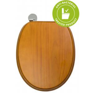 Antique Pine Flexi-Fix™Toilet Seat