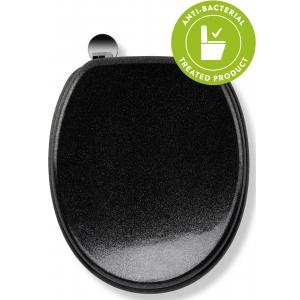 Black Quartz Flexi-Fix™Toilet Seat