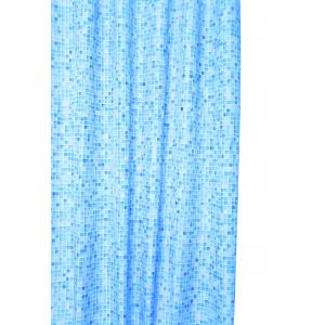 Blue Mosaic Textile Shower Curtain